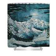 Winter Moon 2 Shower Curtain