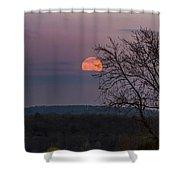 Winter Moonrise Shower Curtain by Sven Kielhorn