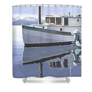 Winter Moorage Shower Curtain