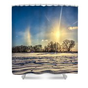 Winter Morn In Minnesota Shower Curtain