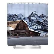 Winter Morning At John Moulton Barn Shower Curtain