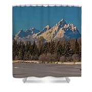 Winter Morning At The Grand Shower Curtain