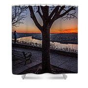 Winter Morning Breath Shower Curtain