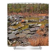 Winter Morning On Marble Creek 1 Shower Curtain