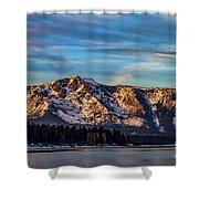 Winter Morning South Lake Tahoe Shower Curtain