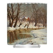 Winter Morning Shower Curtain