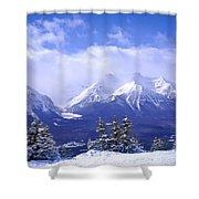 Winter Mountains Shower Curtain by Elena Elisseeva