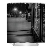 Winter Night On Main Shower Curtain