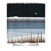 Winter On Hay Stack Mountain Shower Curtain