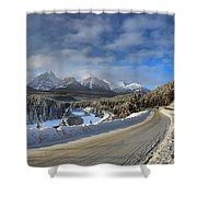 Morant's Curve On The Bow Valley Parkway Shower Curtain
