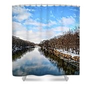 Winter On The Cedar Shower Curtain