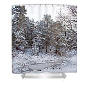 Winter On The Chase Shower Curtain