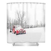 Winter On The Farm Etna New Hampshire Shower Curtain