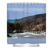 Winter On The Pemi Shower Curtain