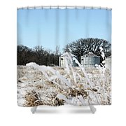 Winter On The Prairie Number 2 Shower Curtain