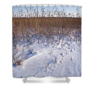 Winter On The Prairie Shower Curtain