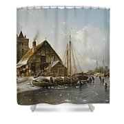 Winter On The Rhine Shower Curtain