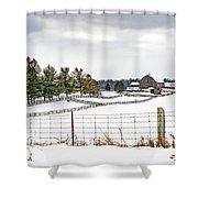 Winter Ontario Farm 3 Shower Curtain