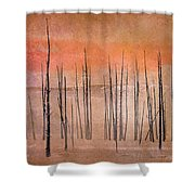 Winter Orange  7913orange Shower Curtain