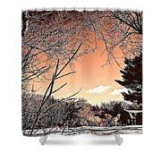 Winter Pastel Shower Curtain