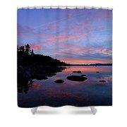 Winter Pastel Sundown Serenity Shower Curtain