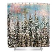 Winter Pastels Shower Curtain