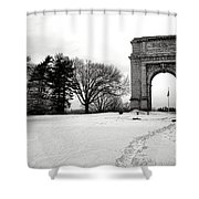 Winter Path To Glory Shower Curtain