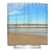Roller Coaster Pier  Shower Curtain