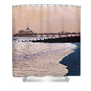 Winter Pier Shower Curtain