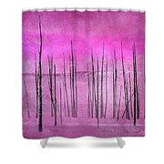 Winter Pink  7913pink Shower Curtain