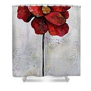 Winter Poppy II Shower Curtain