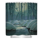 Winter Quiet Shower Curtain