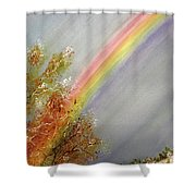 Winter Rainbow  Shower Curtain