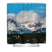 Winter Receding On Pikes Peak Shower Curtain