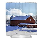Winter Red 2010 Shower Curtain