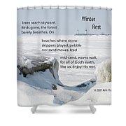 Winter Rest Shower Curtain