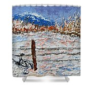 Winter Ride Shower Curtain