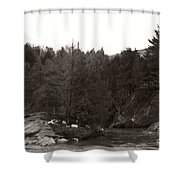Winter River Number Two Shower Curtain