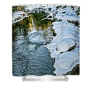 Winter River Reflections - Yellowstone Shower Curtain