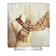Winter Scarf Shower Curtain