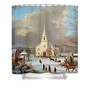 Winter Scene, C1875 Shower Curtain