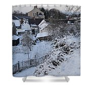 Winter Scene In North Wales Shower Curtain