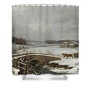 Winter Scene In Pennsylvania Shower Curtain