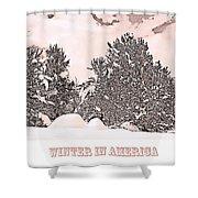Winter Scene In The Colorado Rockies Shower Curtain