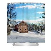 Winter Scene On A Pennsylvania Farm Shower Curtain