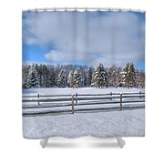 Winter Scenery 14589 Shower Curtain