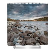 Winter Sea In Porto Frailis Shower Curtain