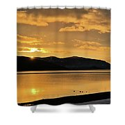 Winter Setting Shower Curtain