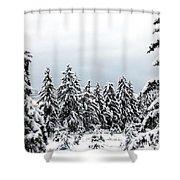 Winter Shangri-la Shower Curtain
