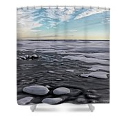 Winter Shoreline Shower Curtain